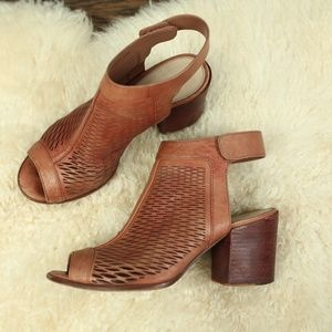 Vince Camuto Tan Perforated Leather Shooties